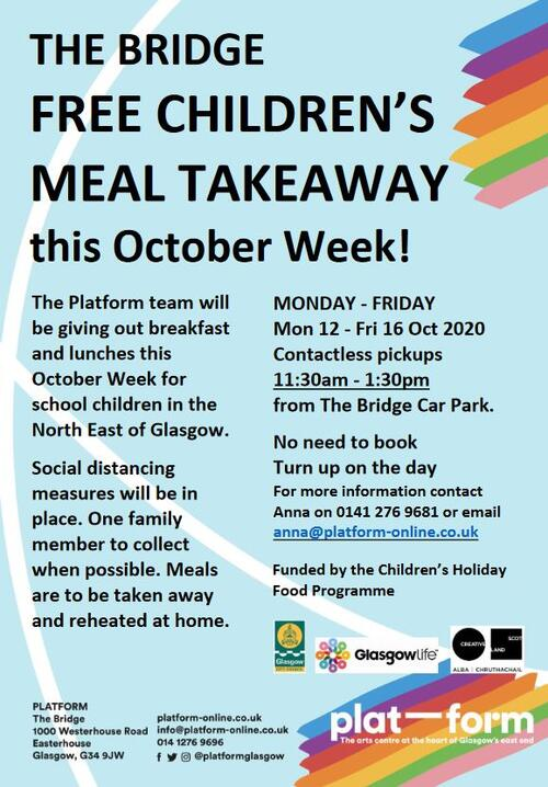 Platform Food Programme 12th - 16th October 2020